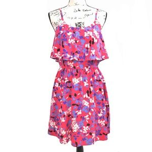 ELLE Pink Floral A-Line Summer Dress Small